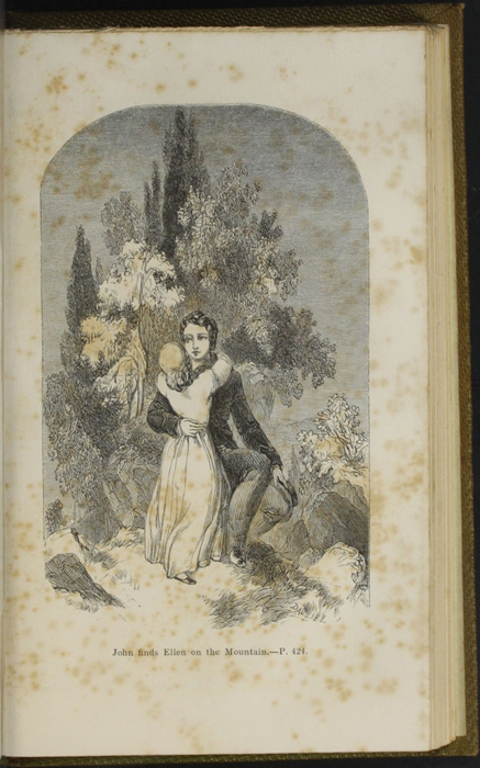 Illustration on Page 424a of the 1853 G. Routledge and Co. Reprint Depicting Ellen and John on the Cat's Back