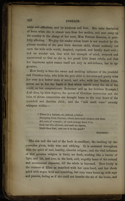 Page viii of the Preface to the [1853] Clarke, Beeton, & Co. Reprint, Version 1