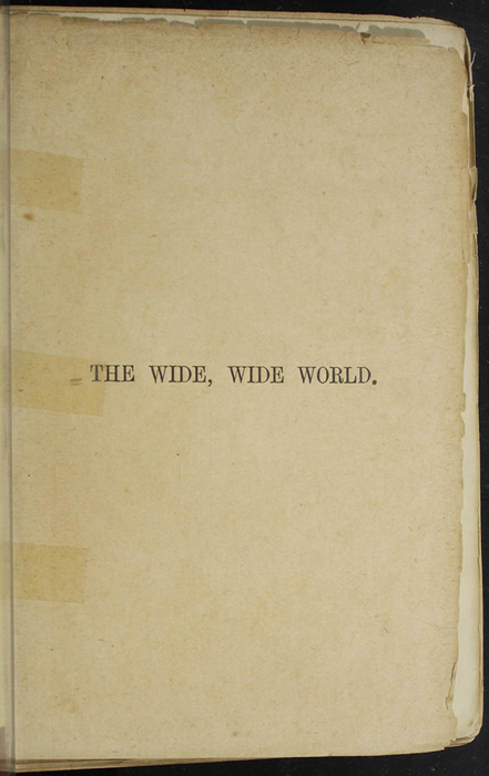 """Half-Title Page to [1891] James Nisbet & Co. """"New ed."""" Reprint"""