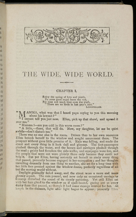"""First Page of Text in the [1892] Ward, Lock & Co. """"Pansy Series"""" Reprint"""