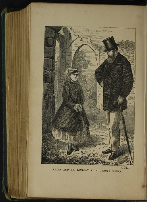 Illustration on Page 342b of the [1879] Milner & Sowerby Reprint Depicting Ellen and Mr. Lindsay at Holyrood House