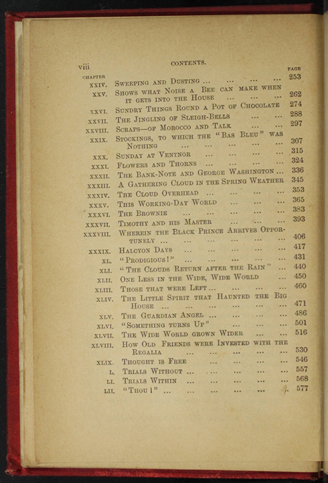 Second Page of the Table of Contents for [1893] James Nisbet & Co. Reprint, Version 2