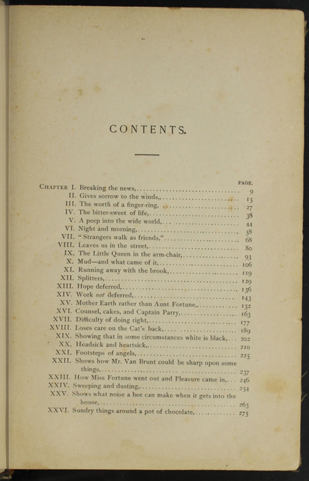 "First Page of the Table of Contents of the [1894] William L. Allison Co. ""Allison's Standard Library"" Reprint"