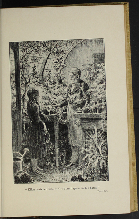 "Illustration on Page 324b of the 1892 J.B. Lippincott Co. ""New Edition"" Reprint Depicting Ellen and Mr. Hutchinson in the Greenhouse"