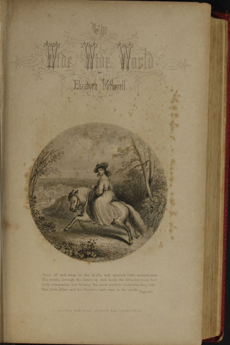 Title Page Vignette to the 1852 T. Nelson & Sons Reprint Depicting Ellen Riding the Brownie