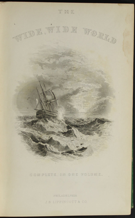 "Title Page Vignette to the 1880 J.B. Lippincott & Co. ""New Edition"" Reprint Depicting a Ship at Sea"