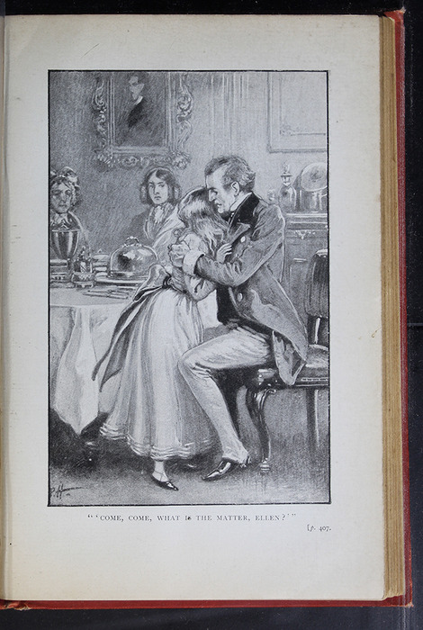 "Illustration on Page 406a of the [1896] S. W. Partridge & Co. ""Marigold Series"" Reprint Depicting Mr. Lindsay Comforting Ellen"