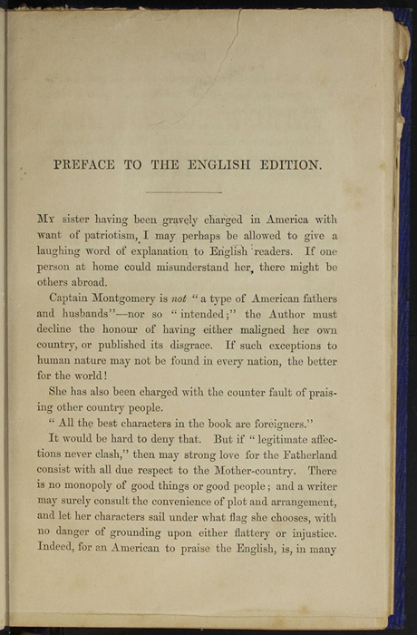 "Page v of the Preface to 1853 James Nisbet, Hamilton, Adams & Co. ""New Edition"" Reprint"