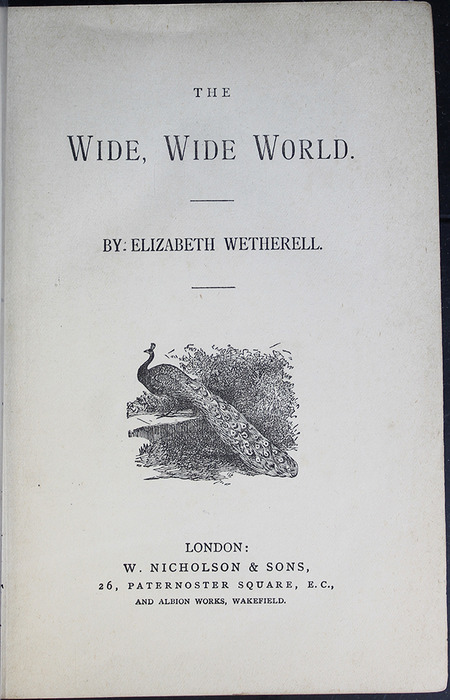 Title Page to the [1887] W. Nicholson & Sons Reprint, Version 2