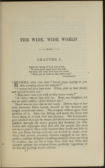"First Page of Text in Volume 1 of the 1891 J. B. Lippincott Co. ""New Edition"" Reprint"