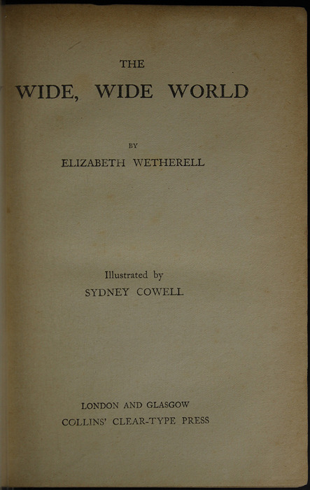 "Title Page in the [1909] Collins' Clear-Type Press ""The Imperial Series"" Reprint"