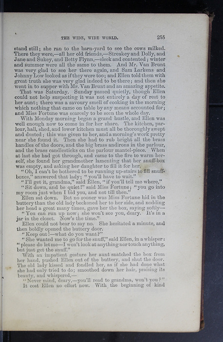 """Recto of Page Succeeding Illustration on Page 255 of the 1886 James Nisbet & Co. """"New Edition"""" Reprint"""