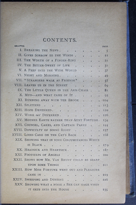"First Page of the Table of Contents for the [1910] Collins' Clear-Type Press ""The Challenge Series"" Reprint"