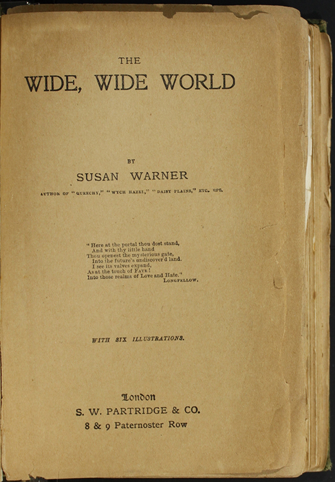 Title Page to the [1896] S.W. Partridge & Co. Reprint