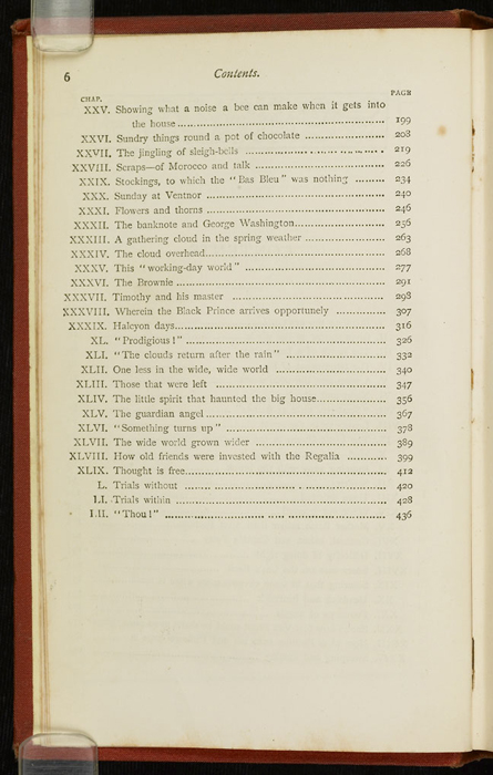 """Second Page of the Table of Contents for the [1877] Ward, Lock & Co. """"Good Tone Library, Complete Edition"""" Reprint"""