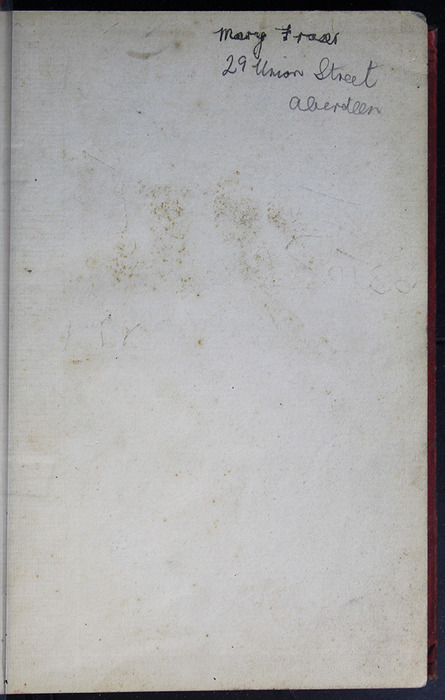 Recto of Front Endpaper with Inscription of the [1908] Seeley & Co. Ltd. Reprint