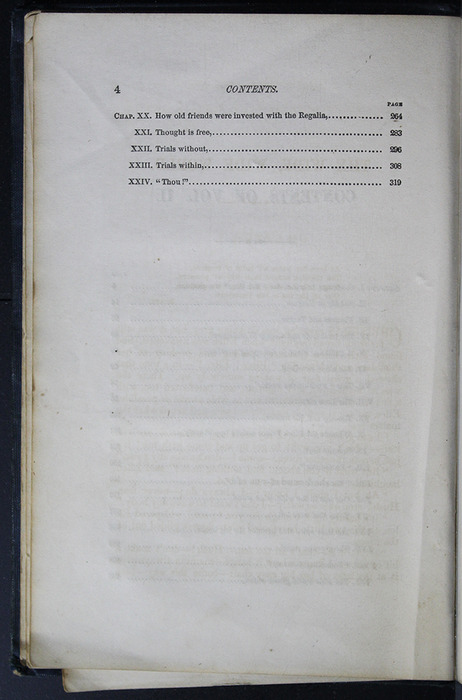 Second Page of the Table of Contents for Volume 2 of the 1852 George P. Putnam 16th Edition, Version 2