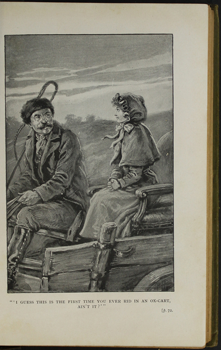 Illustration on Page 72a of the [1910] S.W. Partridge & Co., Ltd. Reprint Depicting Ellen Riding in the Ox Cart