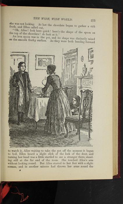 "Illustration on Page 273 of the 1903 J.B. Lippincott Co. ""New Edition"" Reprint Depicting Ellen Meeting John"