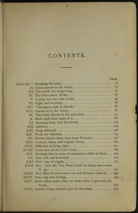 """First Page of the Table of Contents for the [1895] William L. Allison Co. """"Allison's New Standard Library"""" Reprint"""