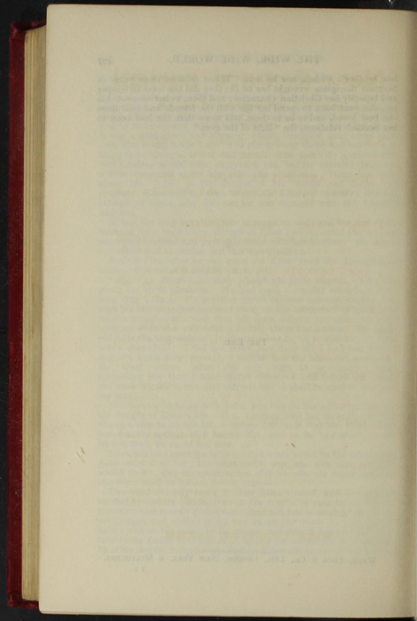 """Verso of Last Page of Text to the [1902] Ward, Lock, & Co., Ltd. """"Complete Edition"""" Reprint."""
