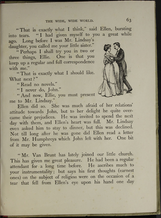 Illustration on Page 63 of the [1918] Thomas Nelson & Sons, Ltd. Abridged Reprint Depicting Ellen Reuniting with John in Scotland