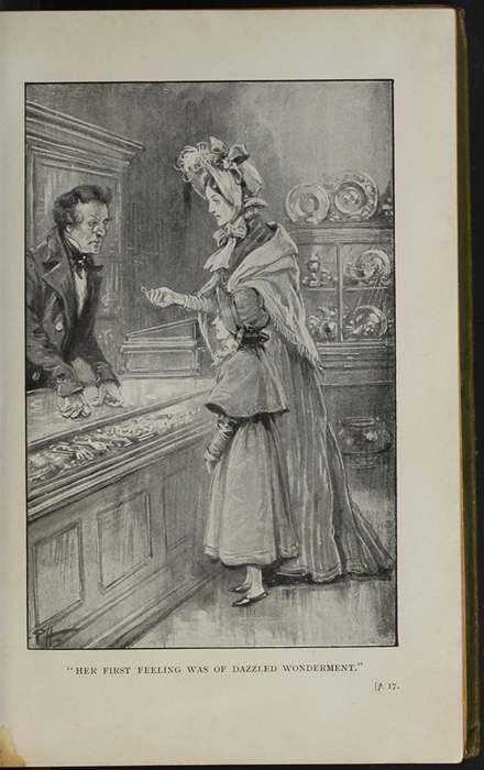 Illustration on Page 16a of the [1910] S.W. Partridge & Co., Ltd. Reprint Depicting Ellen and Mamma Selling Mamma's Ring