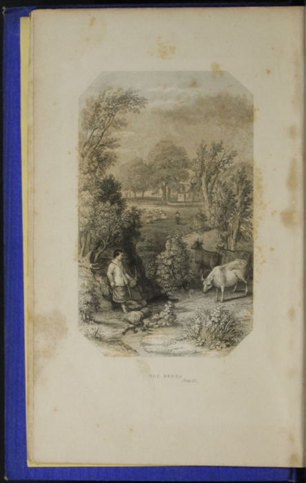 Frontispiece to the 1852 T. Nelson & Sons Reprint, Version 2,  Depicting the Brook