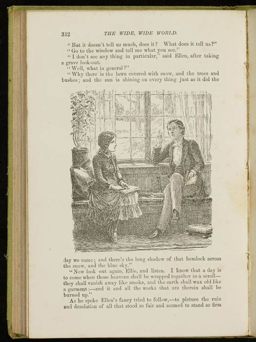 Illustration on Page 312 of the 1896 Hodder and Stoughton Reprint Depicting Ellen and John Reading at the Marshman's