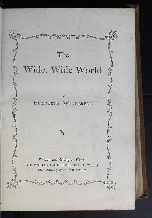 Title Page of the [1896] The Walter Scott Publishing Co. Ltd. Reprint