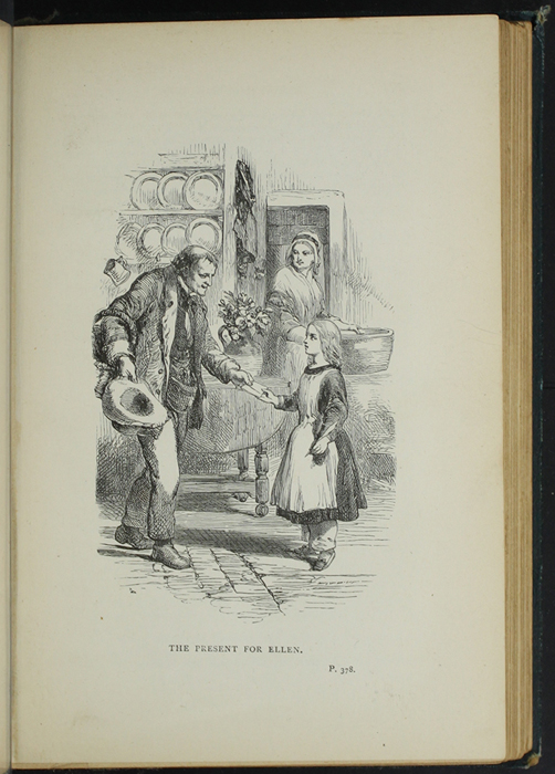 Illustration on Page 378a of the [1893] James Nisbet &amp; Co. Reprint Depicting Thomas Delivering John's Gift of <em>The Pilgrim's Progress</em> to Ellen