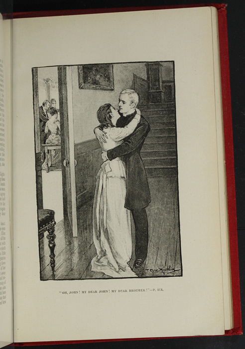 "Illustration on Page 464b of the [1896] Walter Scott, Ltd. ""Complete Edition"" Reprint Depicting Ellen Reuniting with John in Scotland"