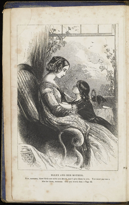 Frontispiece to the 1853 T. Nelson & Sons Reprint Depicting Ellen and Mamma in the Parlour