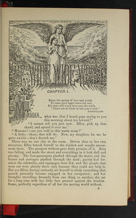 """First Page of Text in the 1903 J.B. Lippincott Co. """"New Edition"""" Reprint Depicting Mamma as an Angel"""