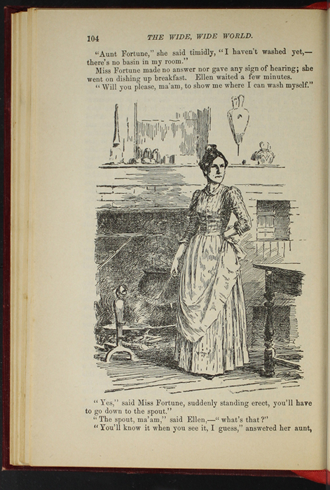 """Illustration on Page 104 of the 1903 J. B. Lippincott Co. """"New Edition"""" Reprint Depicting Aunt Fortune"""