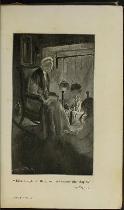 Illustration on Page 254a of the [1910] R.F. Fenno & Co. Reprint Depicting Ellen Reading to Grandma