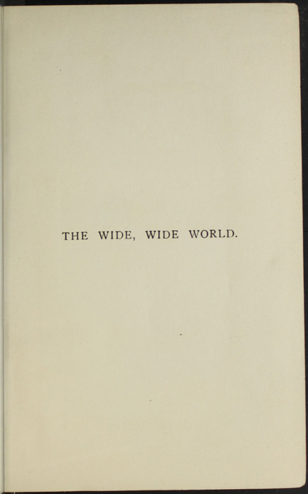 """Half-Title Page to the [1902] Ward, Lock, & Co., Ltd. """"Complete Edition"""" Reprint"""