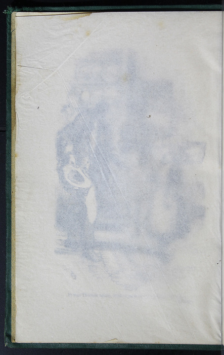 """Verso of Tissue Covering Frontispiece to the [1884] Frederick Warne & Co. """"Star Series"""" Reprint"""