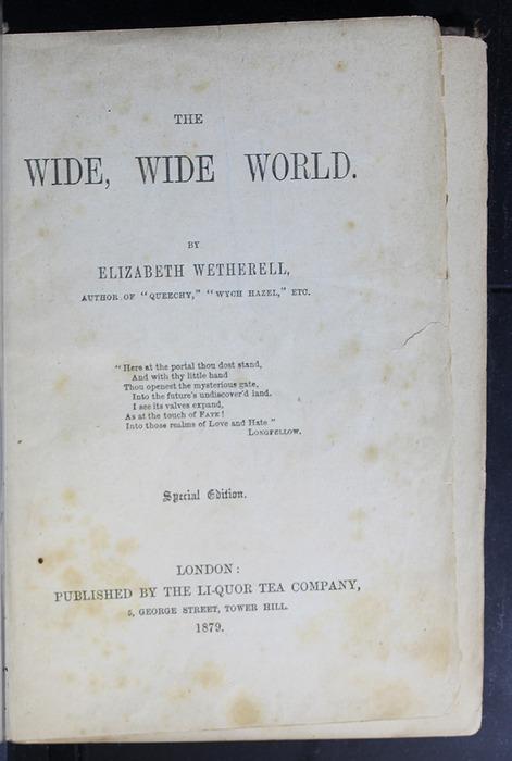 Title Page to the 1879 Li-Quor Tea Co. Reprint