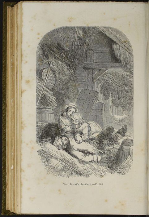 Illustration on Page 372c of the 1853 G. Routledge and Co. Reprint Depicting Mr. Van Brunt's Accident