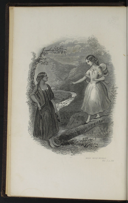 "Frontispiece to the 1869 J. B. Lippincott & Co. ""New Edition"" Reprint Depicting Ellen and Nancy at the Brook"