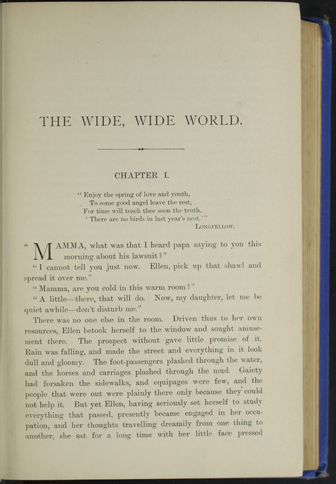 First Page of Text of the 1893 T. Nelson & Sons Reprint