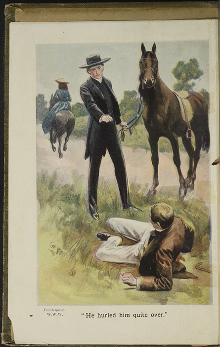 Full-Color Frontispiece to the [1907] Collins' Clear-Type Press Reprint Depicting the Horse Whipping Scene