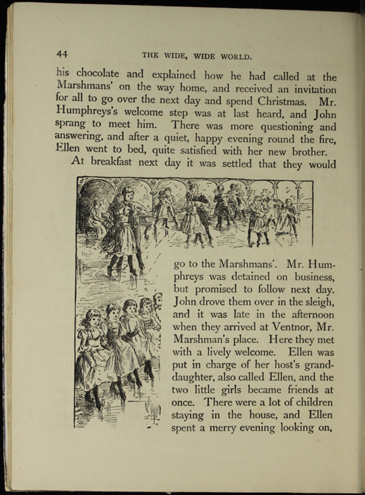 Illustration of on Page 44 of the [1918] Thomas Nelson & Sons, Ltd. Abridged Edition Depicting Children Playing at the Marshman's