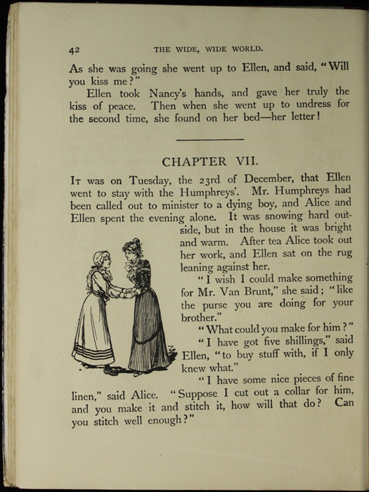 Illustration on Page 42 of the [1918] Thomas Nelson & Sons, Ltd. Abridged Reprint Depicting Ellen and Alice