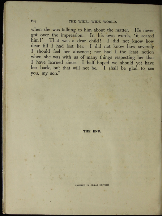 "Last Page of Text of the [1918] Thomas Nelson & Sons, Ltd. ""Abridged Edition"" Reprint"