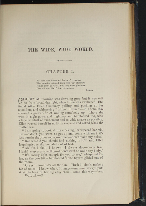First Page of Text in Volume 2 of the 1888 J.B. Lippincott & Co. Edition