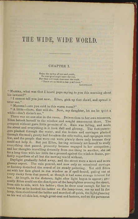 """First Page of Text in the 1853 T. Nelson & Sons """"Nelson's Library for Travellers and the Fireside"""" Reprint"""