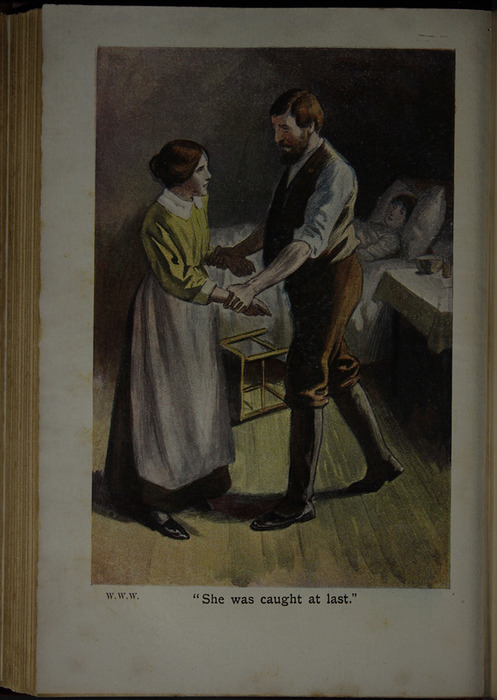 "Illustration of Nancy and Mr. Van Brunt in the [1909] Collins' Clear-Type Press ""The Imperial Series"" Reprint"