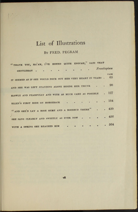List of Illustrations for the [1907] Grosset & Dunlap Reprint, Version 1